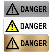 Danger-WITH IMAGE-Aluminium Metal Sign-Door,Notice,Shop,Office,Secure